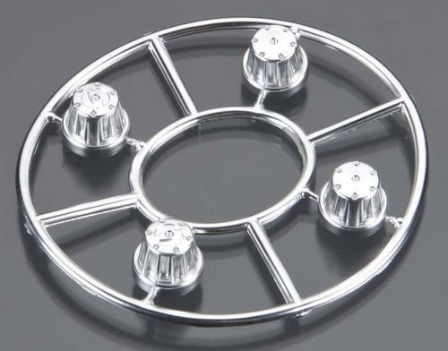 Axial Hub Cover Set - Chrom SCX10 Nabendeckel