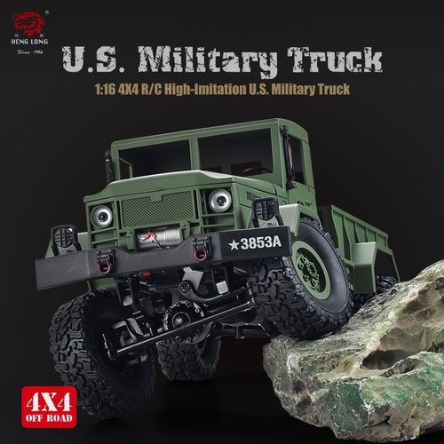 Heng Long 1/16 4x4 RC U.S. Military Truck Grün