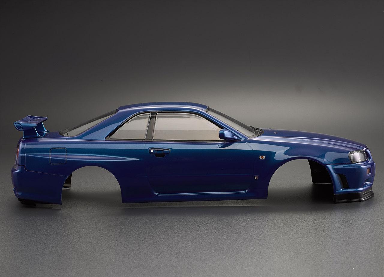 killerbody nissan skyline r34 1 10 karosserie metalic blau. Black Bedroom Furniture Sets. Home Design Ideas