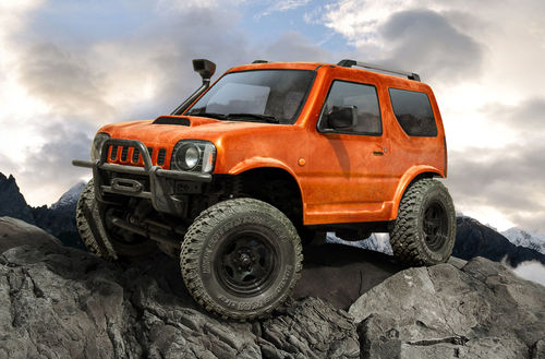 MST CMX J3 4WD Crawler Scale RTR orange Radstand 242mm